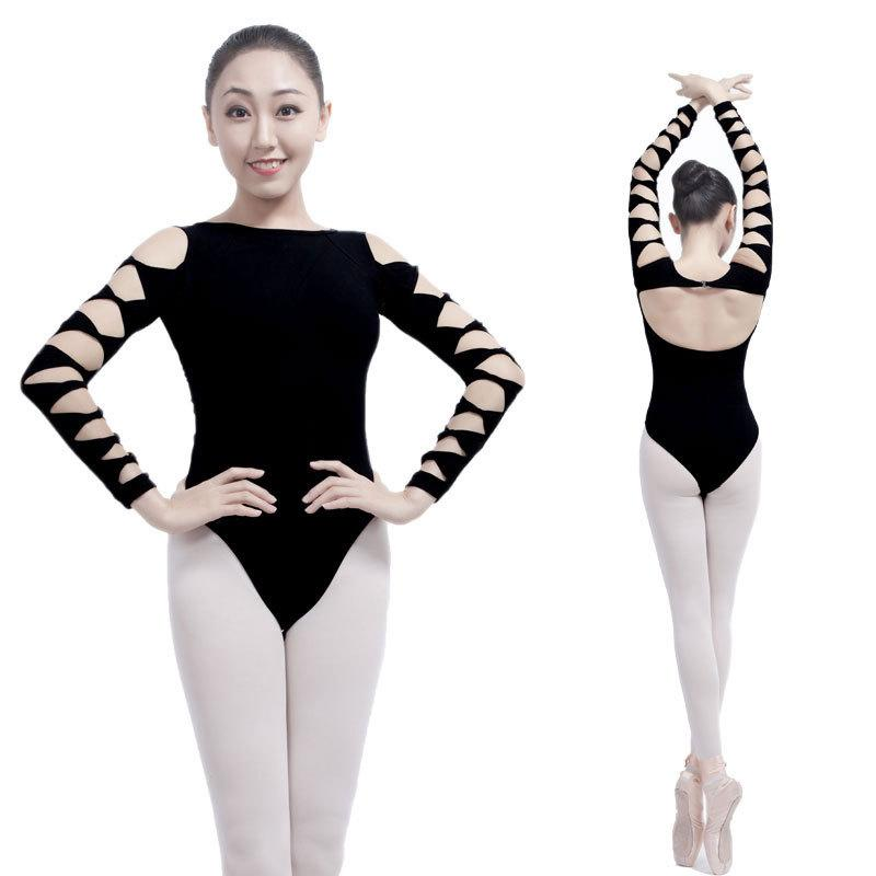 8e3a63b1a975 2019 Ballet Dance 7 Point Sleeve Bodysuit Tops Stager Performance Wear  Black Leotard Ballet Practice Leotards Clothes DWY922 From Purlove, $37.99  | DHgate.