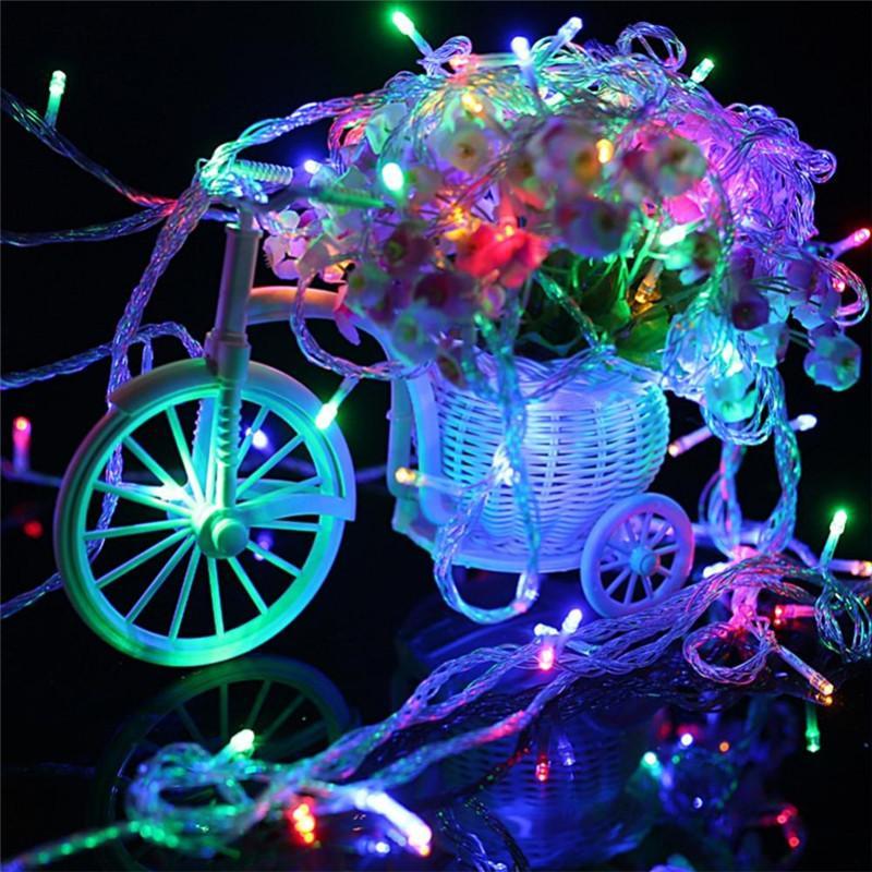 3 M 30 LED Operado por Bateria LED Luzes da Corda para o Natal Guirlanda Decoração de Casamento Festa de Natal Luzes de Fadas Flasher