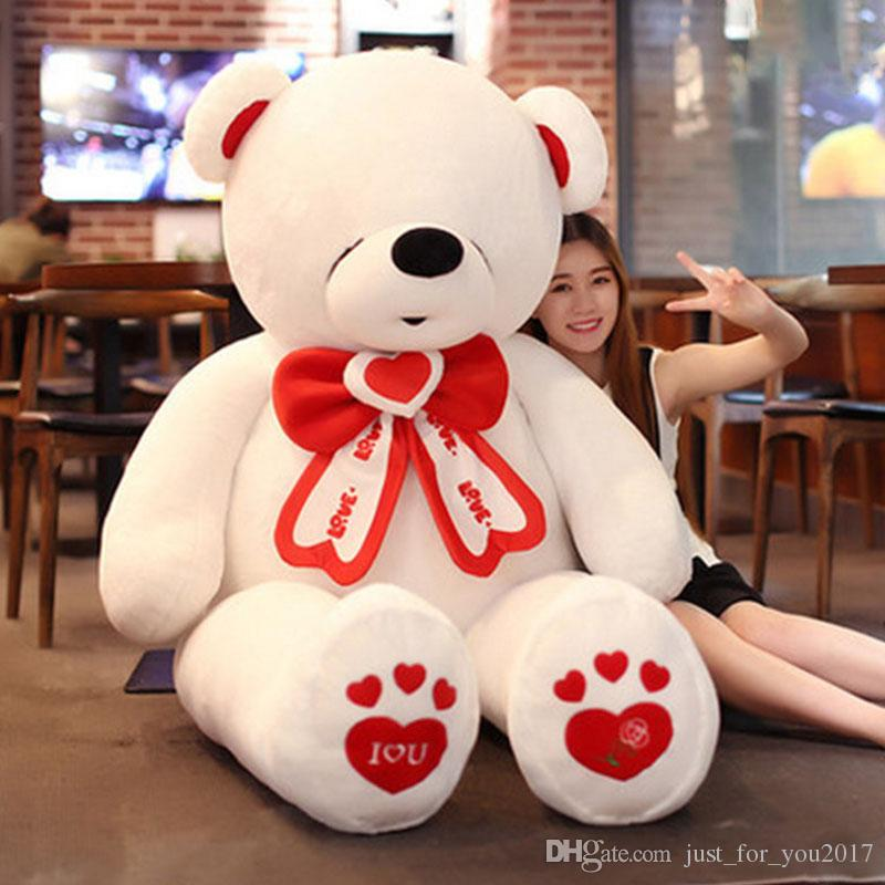 2018 life size giant teddy bear stuffed big valentines day bear i love you toys animals bears doll from just_for_you2017 7925 dhgatecom