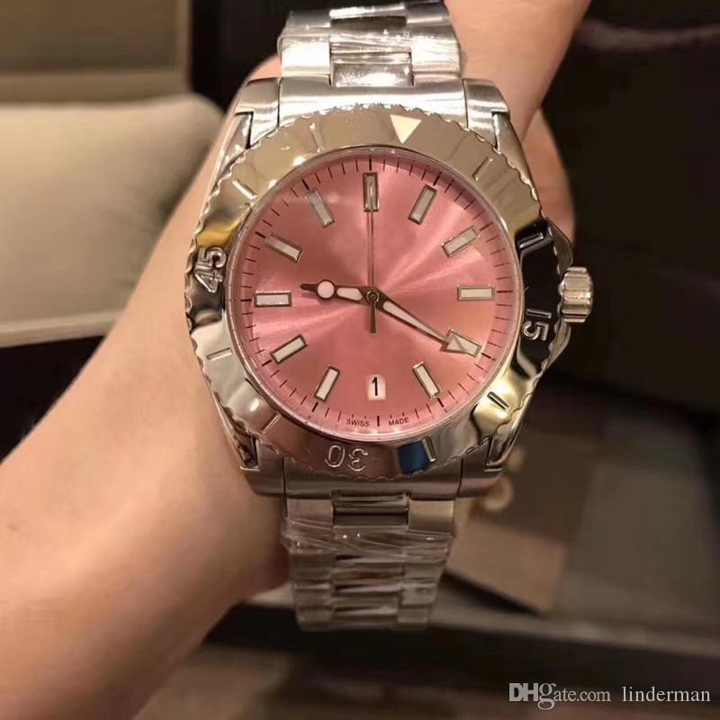 2018 New Style Top Quality Guic Quartz Movement DIVE Sapphire Crystal Red Dial Women Watch 316 Stainless Band Free Shipping