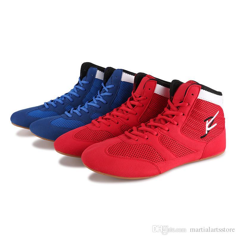 new product 1b217 850f7 Acquista Scarpe Da Wrestling Air Permeabili Di Buona Qualità Scarpe Da  Combattimento Boxe Scarpe Taekwondo Unisex Suola In Gomma Sneakers Scarpe  Boxe Uomo A ...