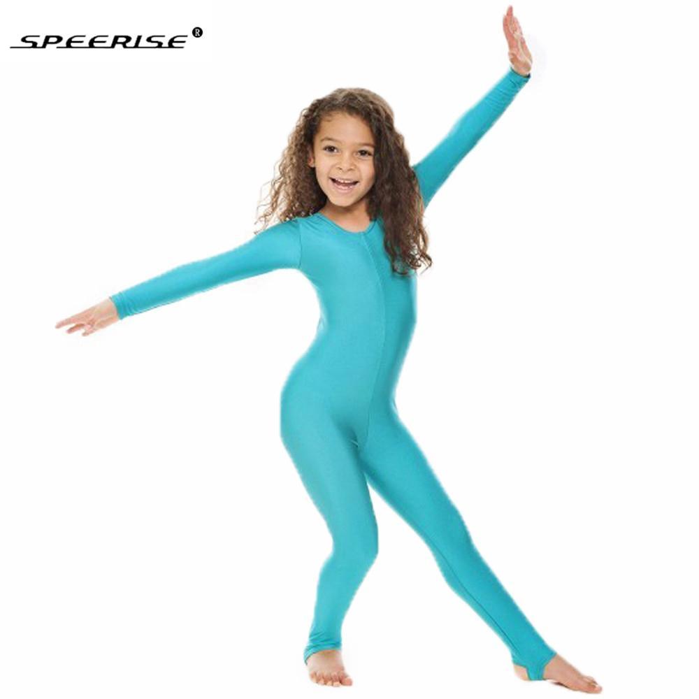 8490b78e400a 2019 SPEERISE Childrens Girls Dance Gymnastics Long Sleeve Unitard ...