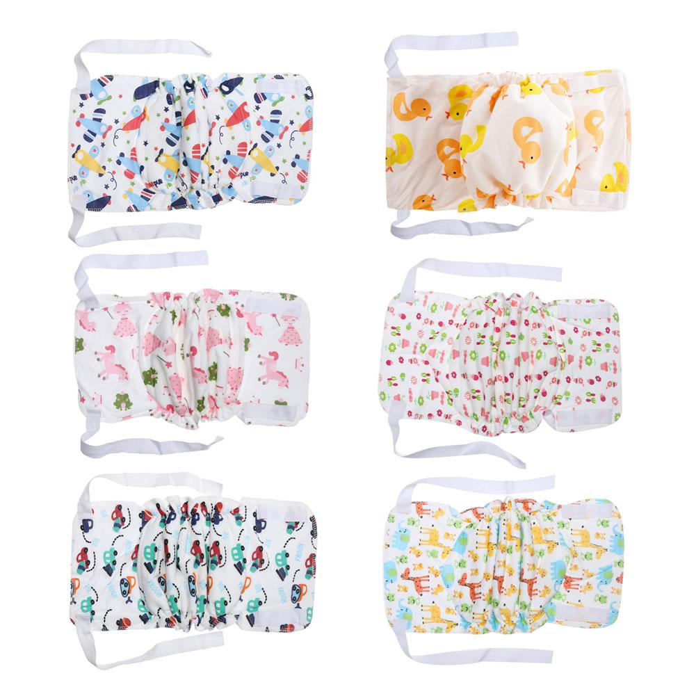 Cute Cartoon Ribbon cloth diapers Baby Infants Children Breathable Cotton Diaper High Quality Washable Soft Baby Nappies