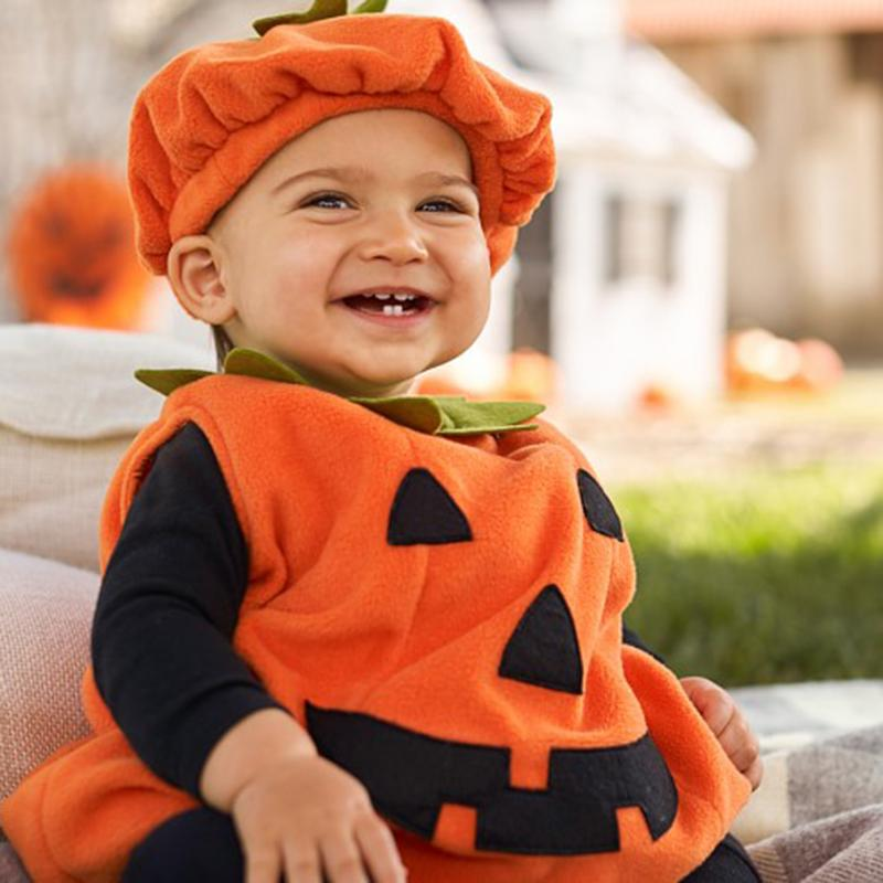 Baby Halloween Costumes Boy And Girl.Halloween Costume For Kids Newborn Baby Boy Girl Pumpkin Tops Outfit Party Fancy Dress Clothes Cute Children Clothing 0 3t