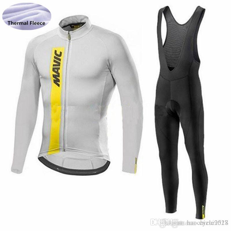 Triathlon MAVIC Team Cycling Jersey Winter Thermal Fleece Bike Wear 9D Gel  Pad Bib Pants Set MTB Bicycle Breathable Ropa Ciclismo Cycle Shorts  Castelli Bib ... 647d810f5