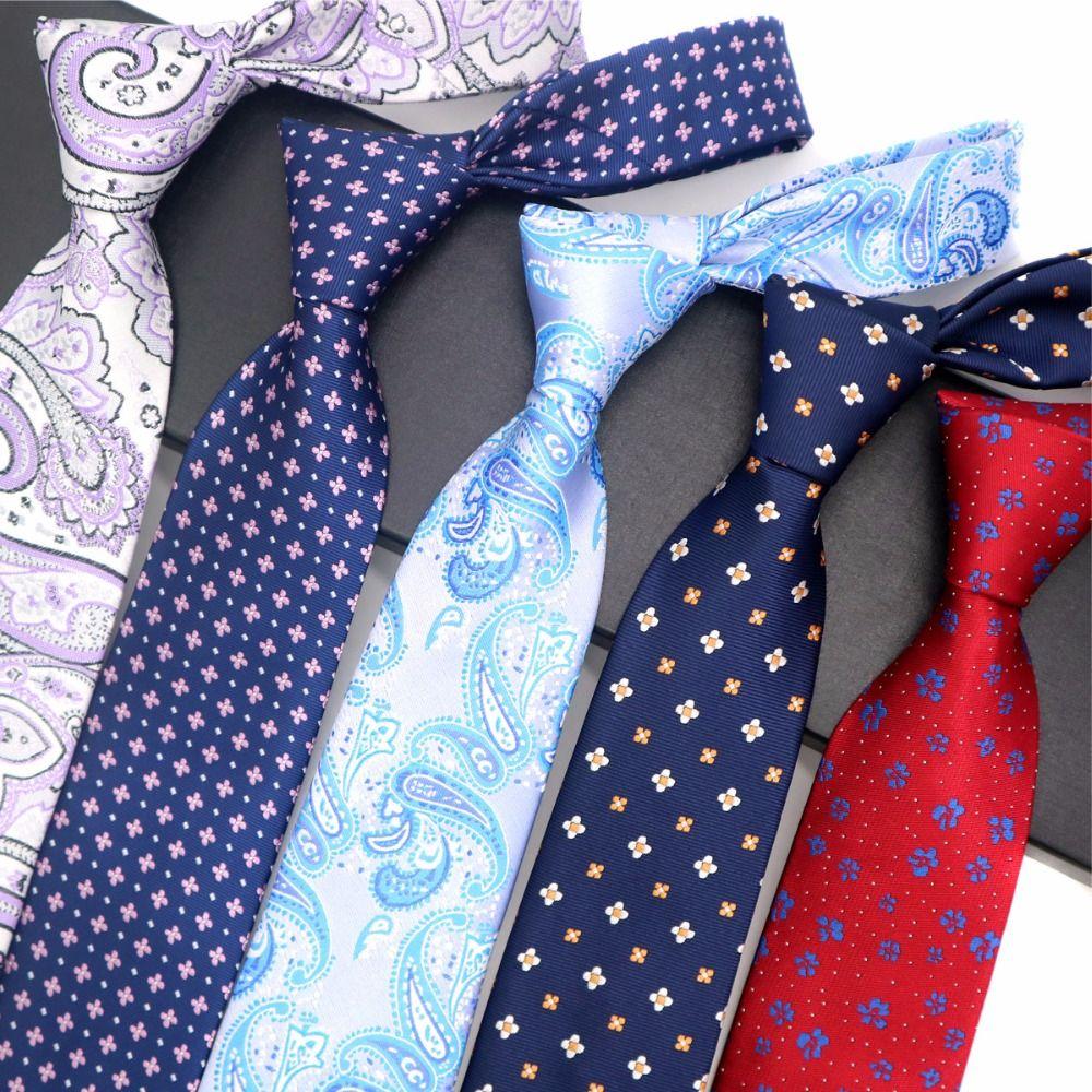 2019 19 patterns 8cm mens tie 100 silk necktie jacquard floral