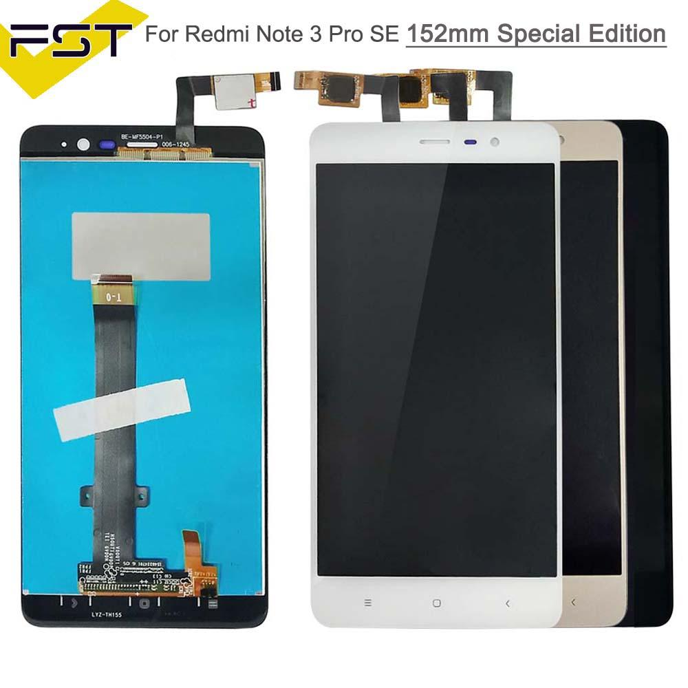 2018 152mm For 55 Xiaomi Redmi Note 3 Pro Se Lcd Display Touch Screen Digitizer Assembly Frame Special Edition From Alexanderk