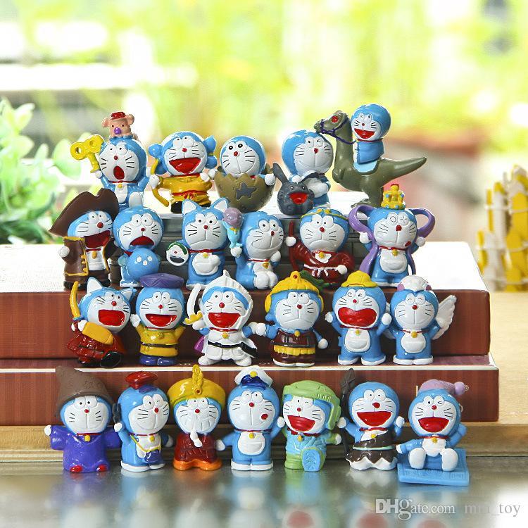 Anime Cartoon Cute Doraemon Mini PVC Figure Model Toys Dolls Child Toys BIrthday Gifts Colorful Life Home Decoration
