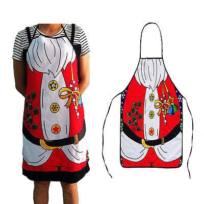 Christmas Decoration Santa Claus Apron Home Kitchen BBQ Party Funny Bib Festive Gifts