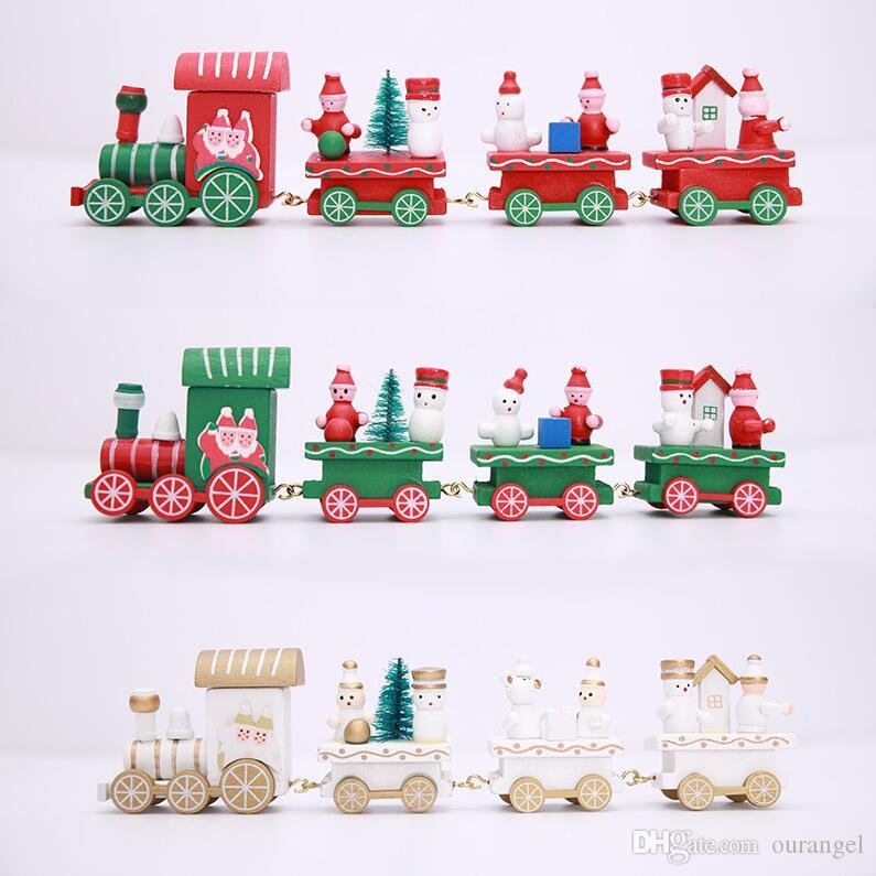 Wooden Mini Craft Christmas Train Ornaments Wooden Train Decor Mini Garden  Accessories Home Decoration Gifts For Children Christmas Toy Charities Best  Toys ... - Wooden Mini Craft Christmas Train Ornaments Wooden Train Decor Mini