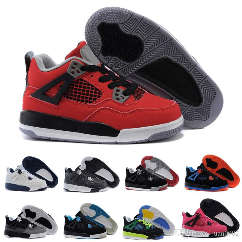 new arrival 579e4 77f00 Acheter 2018 Nike Air Jordan 4 13 Retro Kid Young 4 All Star Femmes Hommes  Chaussures De Basket Ball Haute Qualité 4S IV Noir Blanc Or Garçon Enfants  ...
