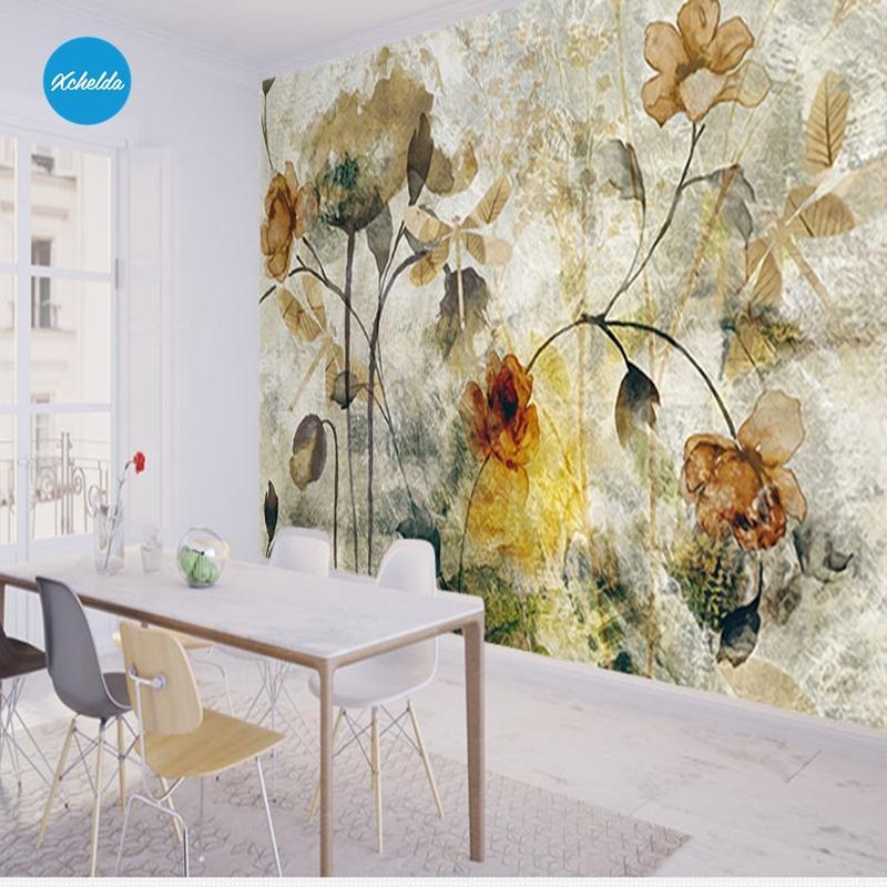 Wallpaper Küche | Grosshandel Xchelda Benutzerdefinierte 3d Wallpaper Design Alte
