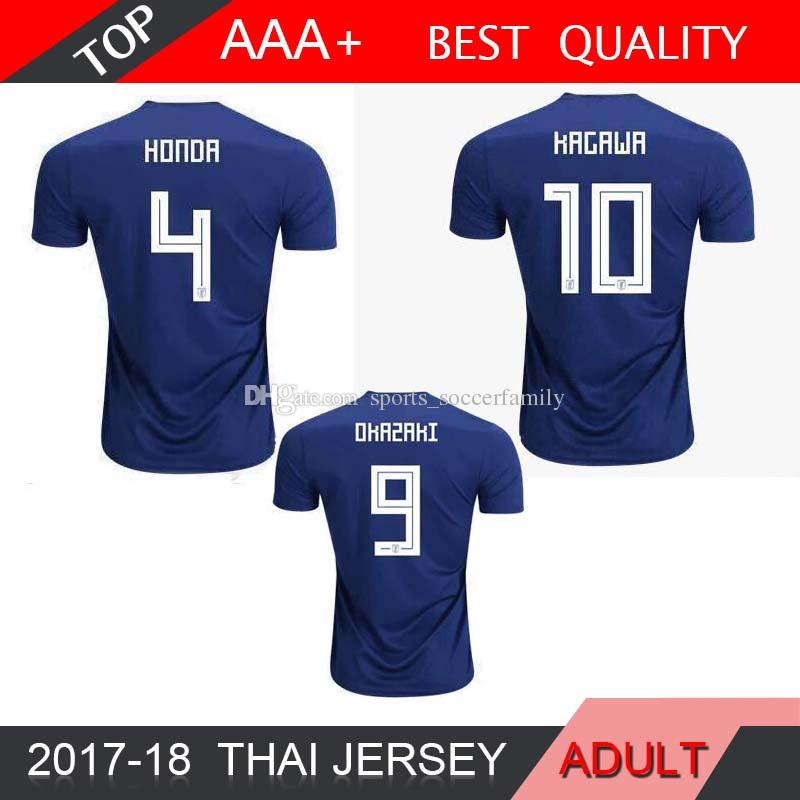 OKAZAKI KAGAWA HASEBE NAGATOMO HARAGUCHI KIYOTAKE 2018 World Cup Japan Home  Blue Soccer Jersey 17 18 Japan Away Football Shirts Japan HONDA KAGAWA  Soccer ... a6bbbcf7d