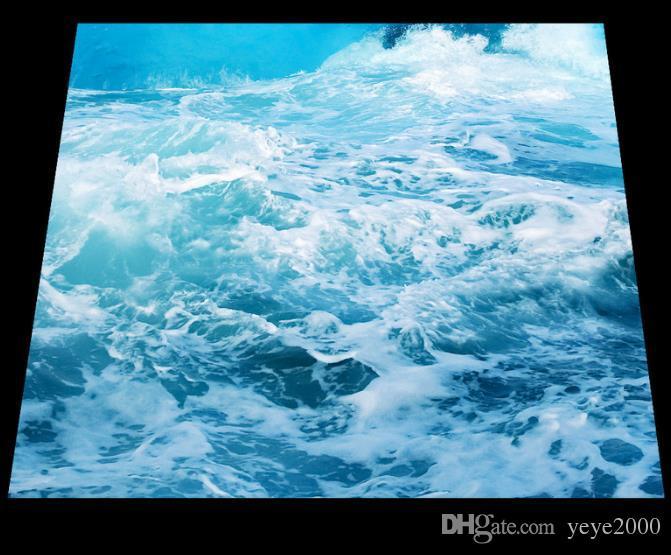 Высокое качество 3D пол творческий милый Дельфин 3D настил фрески самоклеящиеся водонепроницаемый 3D ПВХ виниловые полы