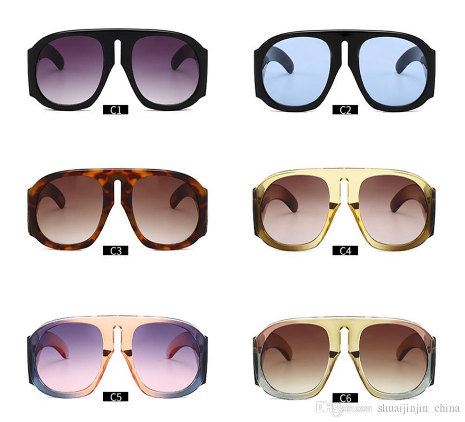 Compre Gafas De Sol De Montura De Gran Tamaño Escudo Gafas De Sol ...