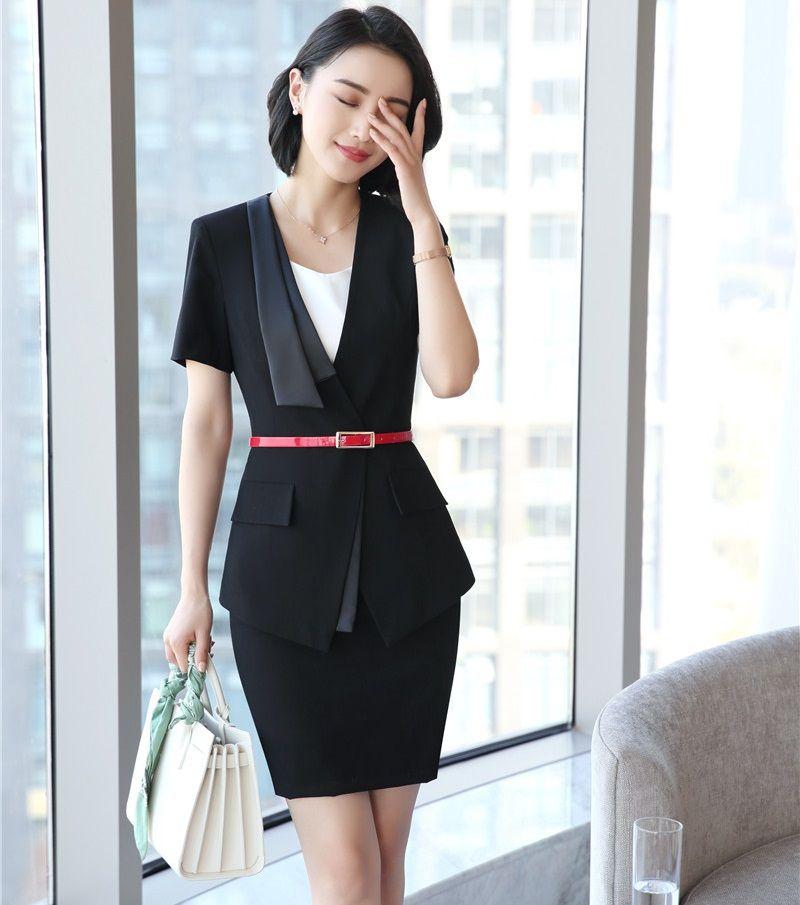 387bd44e1d4703 Großhandel Mode Weibliche Rock Anzüge Für Frauen Anzüge Blazer Und Jacke  Sets Büro Damen Arbeitskleidung Kleidung Mit Gürtel Von Yukime, $74.1 Auf  De.