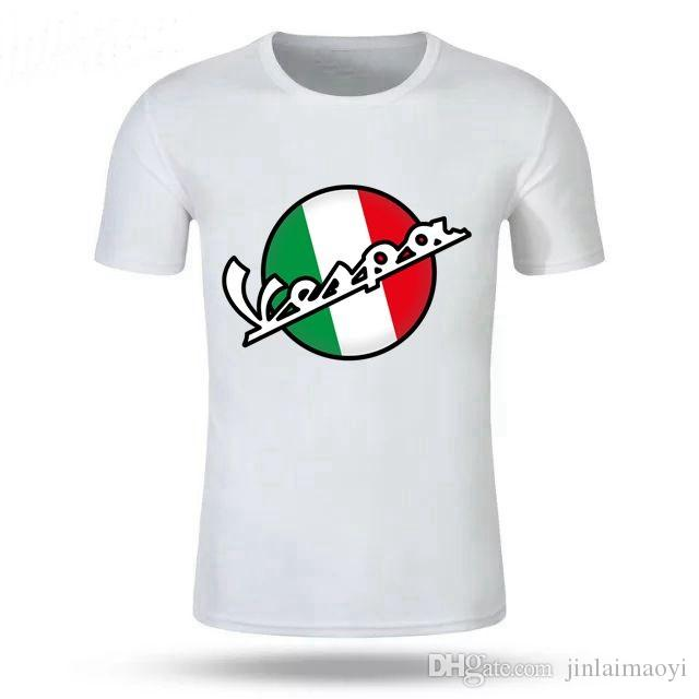 62e02142f6c Classic Vintage Vespa 3D T Shirt Men Italy Scooter Brand Vespa Tee Shirt  Short Sleeve 80 S 90 S Teenage Motorcycle Youth T Shirt T Shirts With  Awesome Cheap ...