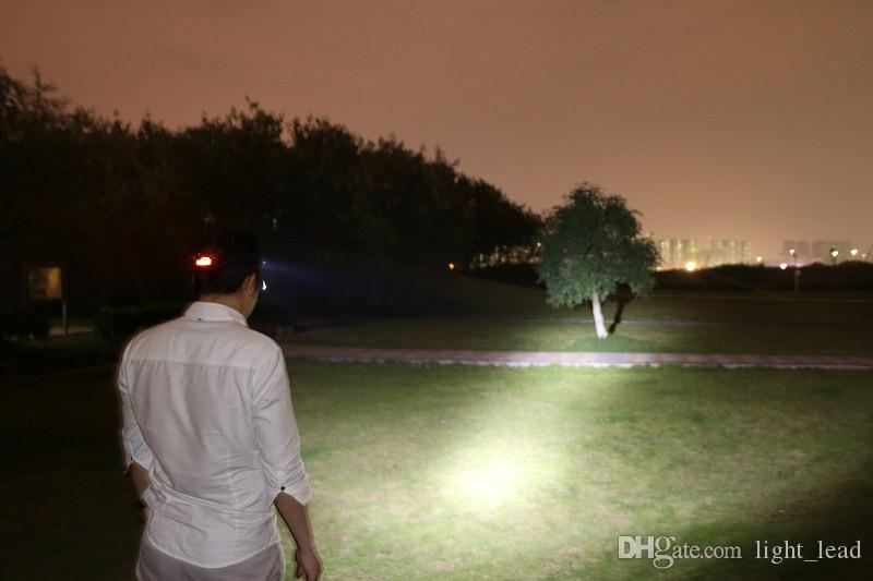 Faros LED 1 * T6 + 2 * XPE 4 modos 3600Lm Faros LED Linterna impermeable Super brillante Lámpara de caza para bicicletas Senderismo
