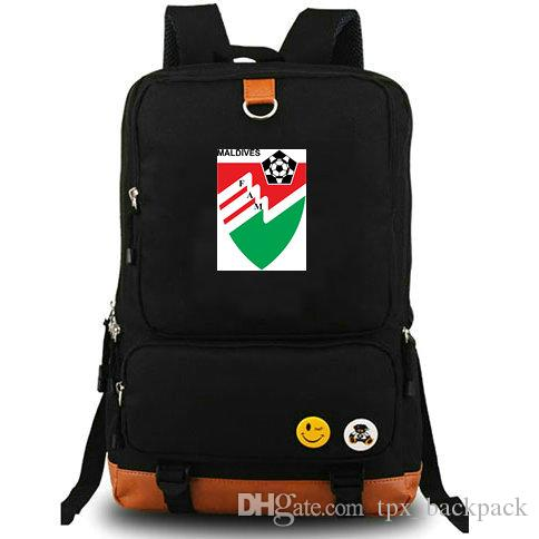 Maldives Daypack FAM Country Team School Bag Red Green Football Badge Day  Pack Computer Rucksack Sport Schoolbag Outdoor Backpack Rolling Backpacks  ... 42a36d6e2473a