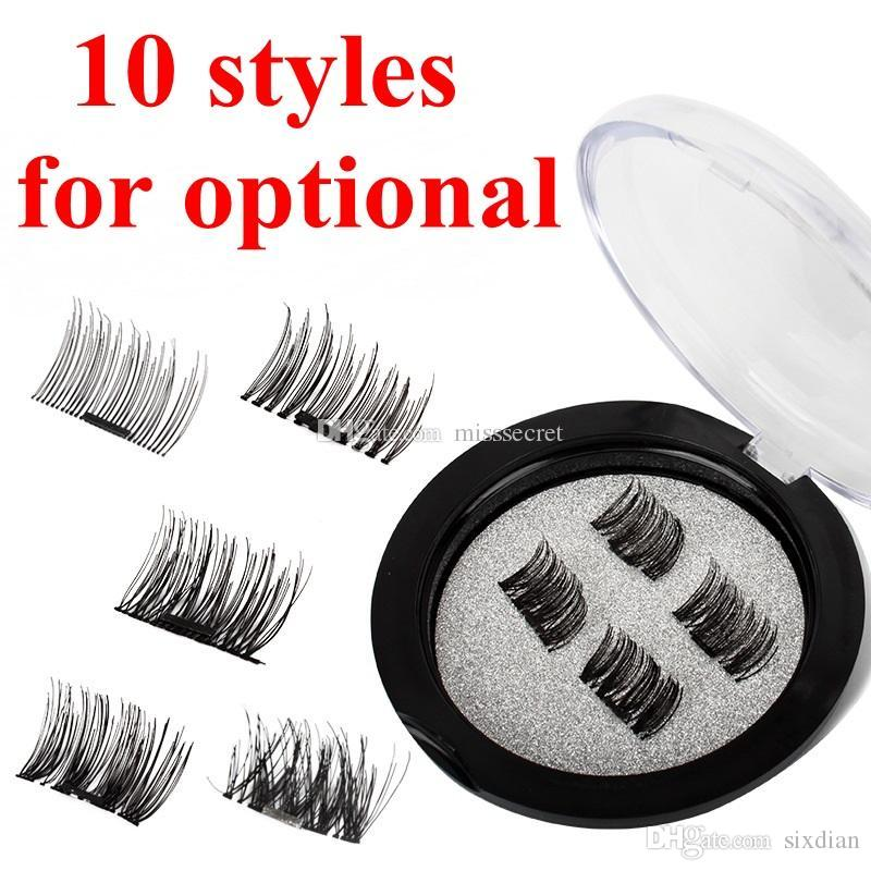 Magnetic Eye Lashes 3D Mink Reusable False Magnet Eyelashes Extension 3D  Mink Eyelash Extension Magnetic Eyelashes DHL Free