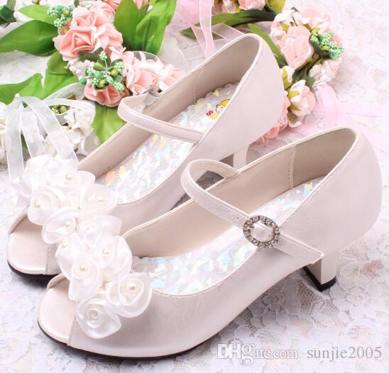 Kinderschuhe Mädchen Sandalen 2018 neue Sommer koreanische Studenten große Kinder kleine Mädchen Kinder Prinzessin Schuhe High Heels