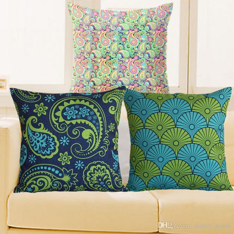 2018 New Design Paisley Pillowcase Bohemian Cushion Cover Geometric Chair  Seat Sofa Wedding Throw Pillows Decorative Cojines King Size Pillow Case  Linen ...