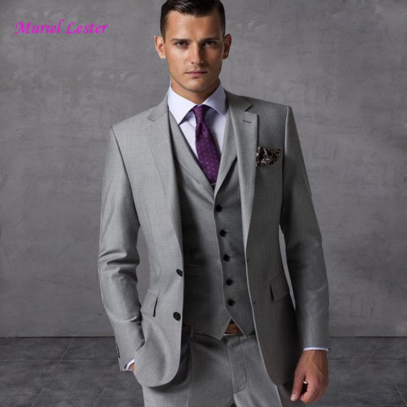0f3552a55334b8 Costume Mariage Homme Terno Slim Fit Masculino Wedding Suits For Men 2018  Grey Best Man Blazer Prom Suit Tuxedo Man Suits Set S18101903 Canada 2019  From ...