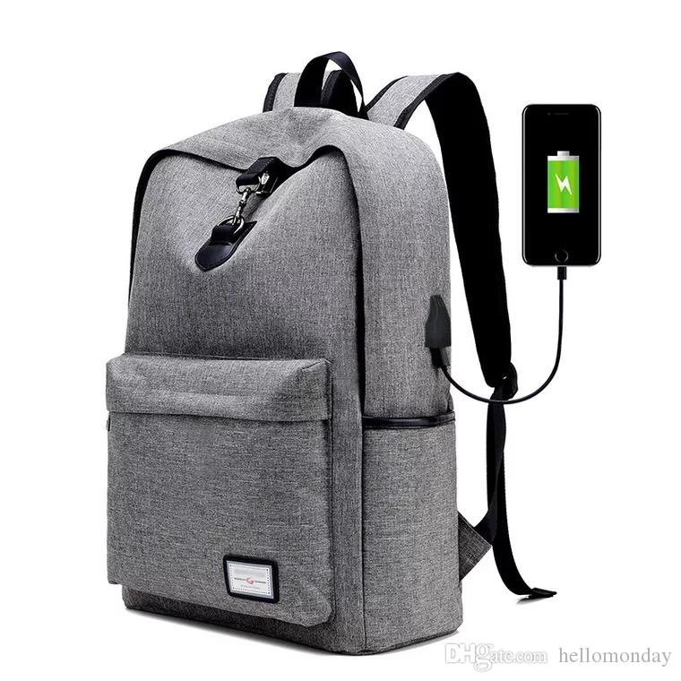 11127c1308 Travel Water Resistant School Backpack with USB Charging Port for ...