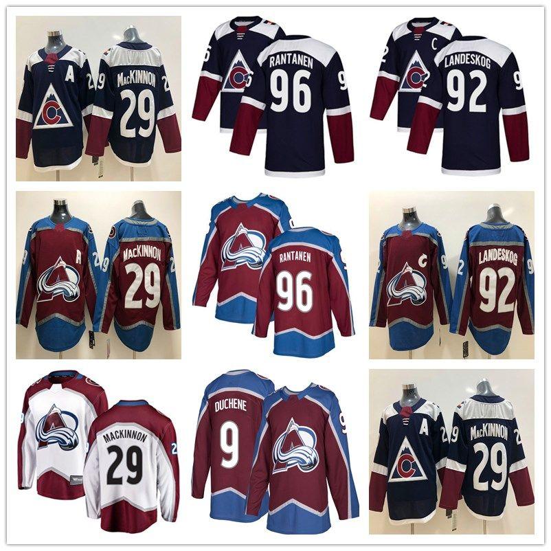 7c2a7d44a ... denmark 2019 ado avalanche 29 nathan mackinnon hockey jerseys 19 joe  sakic 96 mikko rantanen 92