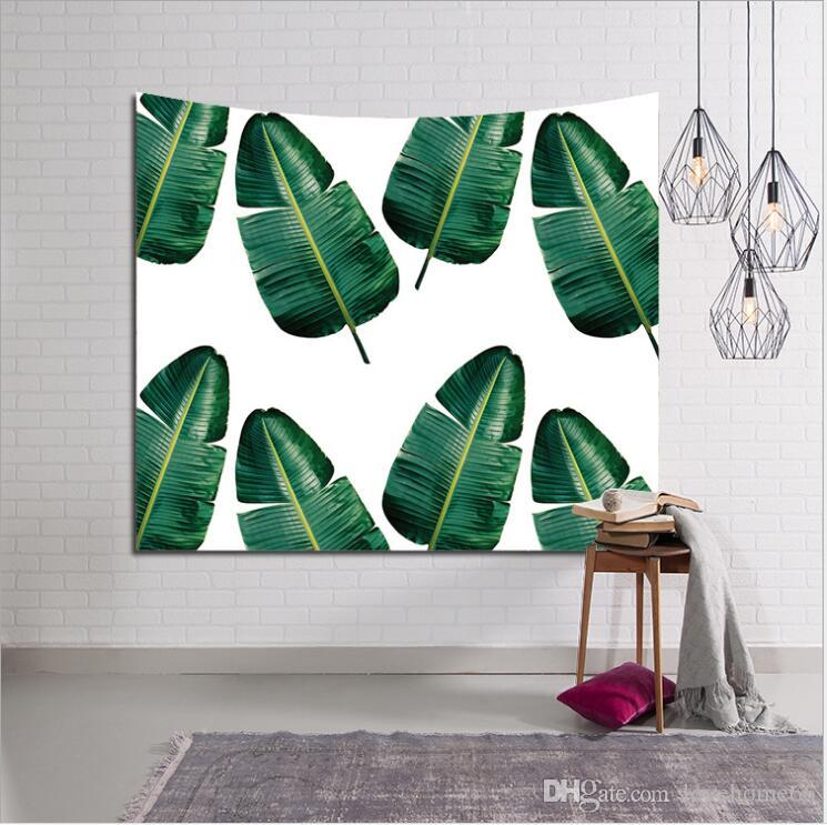 150 130cm Polyester American Tapestry Green Plant Beach Towels Throw