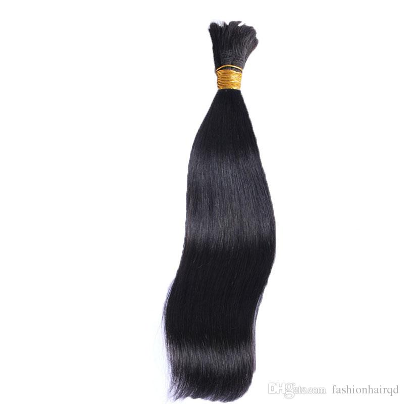 Unprocessed Raw Indian Human Hair Bulks For Weaves Extensions Braiding Straight Body Deep Loose Wave Natural Color