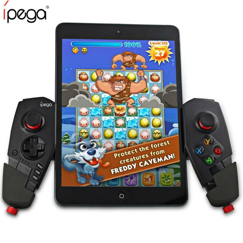 IPEGA PG-9055 Controller di gioco Bluetooth senza fili Joystick Gamepad telescopico con staffa elastica per ipad Android TV Box Set Top Box