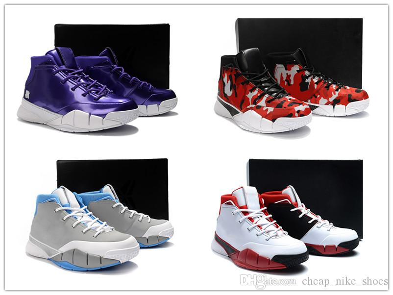 42ccfdf2d9e4 2019 2018 Zoom Kobe 1 Protro All Star White Basketball Shoes Men Sneakers  For Good Quality Kobe 1 MPLS Wolf Grey Purple Mens Designer Shoes From ...