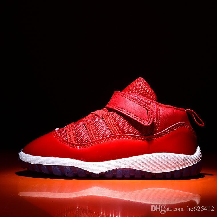 Midnight Marinha 11 s Infantil Sneakers Gamma Azul Ginásio vermelho bebê pequeno crianças tênis de basquete 11 raça concord boy and girl crianças athletic trainer