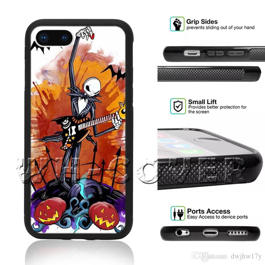 Nightmare Before Christmas Phone Case.Jack Skellington Nightmare Before Christmas Pumpkin King Halloween Town For Phone Case Iphone Ix I8 I8plus I7 I7 I6 I6s Se T6 Cover