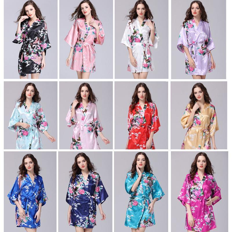 271d56143 Compre Roupas De Verão Das Mulheres Sexy Quimono De Seda Robe Pijama  Vestido De Camisola De Dormir Pijamas Quebrado Flor Kimono Lingerie  Camisola De ...