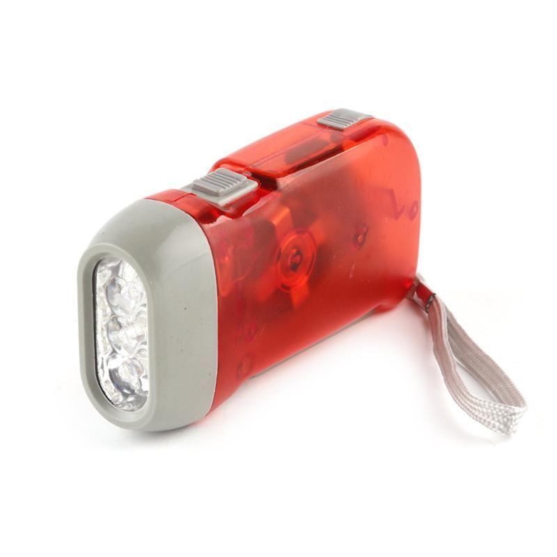 Outdoor 3 LED Hand Press Flashlight No Battery Wind Up Crank Dynamo Flashlight Light Torch Camping Portable Flash Light