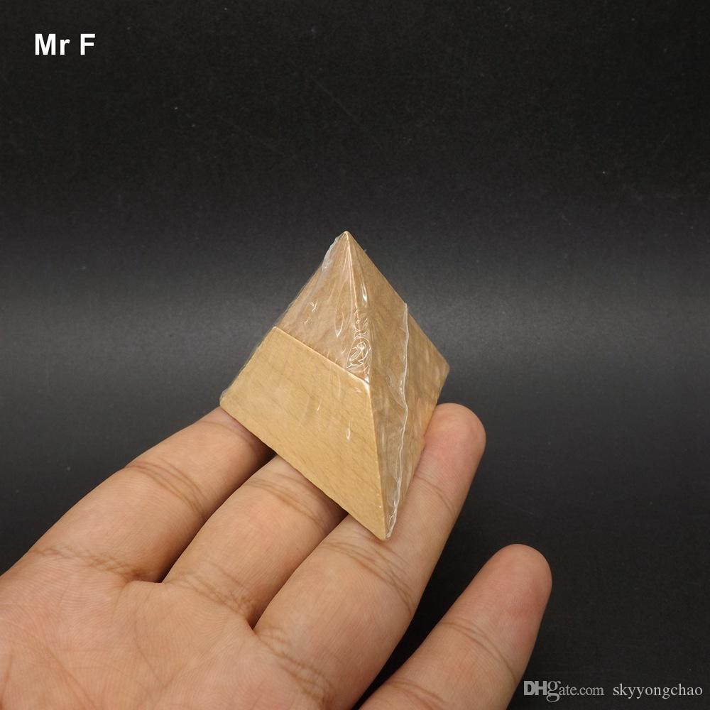 Großhandel Spaß 3d Mini Holzpuzzle Pyramide Spielzeug Kind Spiel ...
