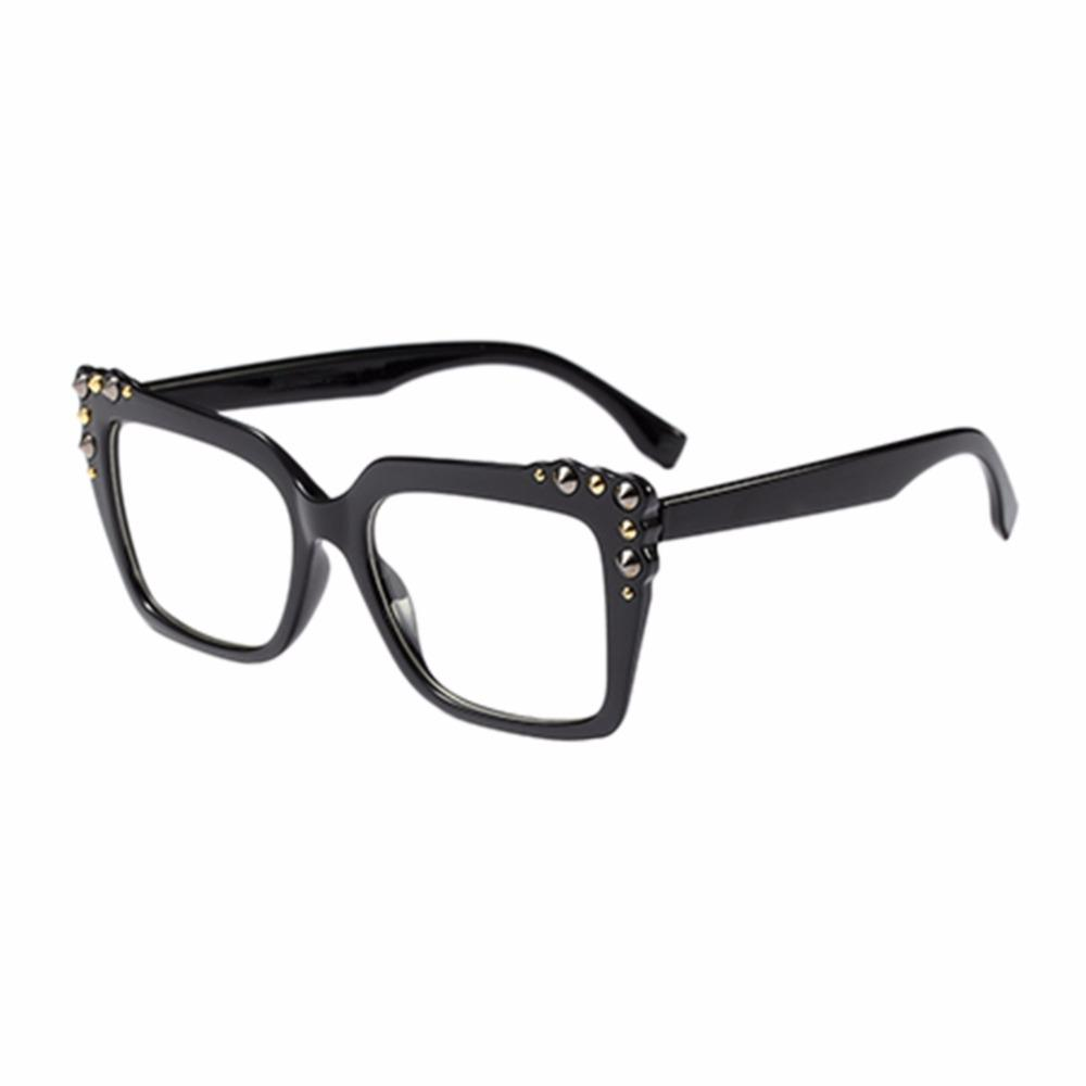 e0d424af660 Unisex Vintage Square Frame Oversized Clear Lens Eye Glasses Fashion ...
