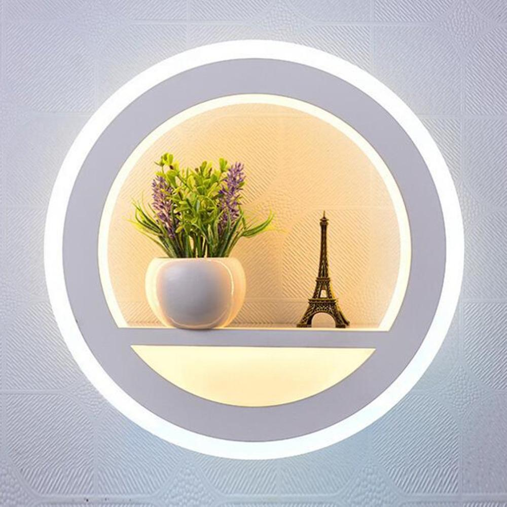2018 Led Wall Mount Light Fixture Acrylic Lamp Flower Decor Lighting ...