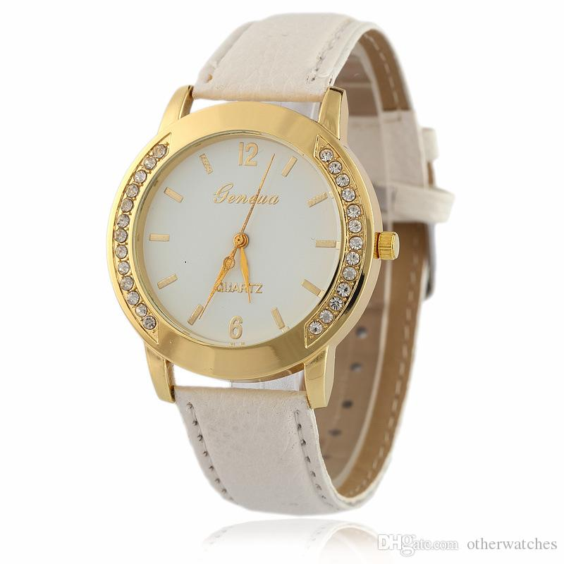 1f5f680fea9 Compre Doble Fila Taladrado Escala De Uñas Correa De Reloj Dama De La Moda  Relojes De Pulsera A $1.83 Del Otherwatches | DHgate.Com