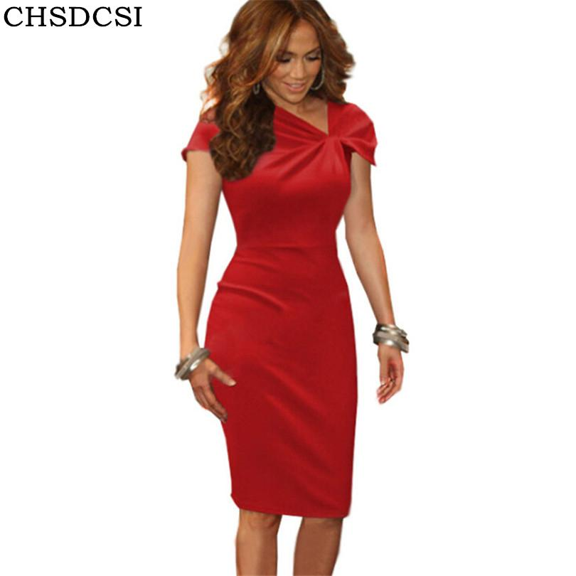 4fb75d04921 2019 New Pencil Dress Shirred Bow Neck Short Petal Sleeve Red Pink Vestido  De Festa Dresses Plus Size Femme Pencil Pink Hot Sale S184 From Edmund02