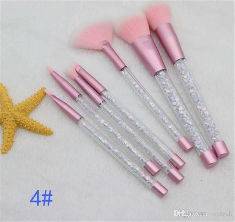 Glitter Crystal Maquillage Brush Set Diamond Pro Surligneur Brosses Concealer Maquillage Brosse Cadeau DHL livraison gratuite