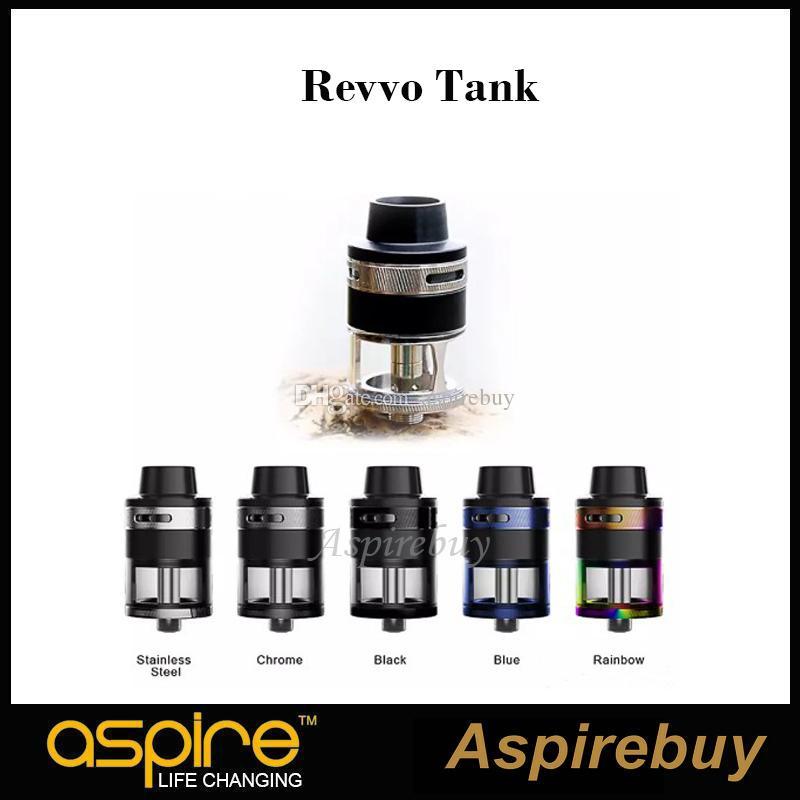 100% Original Aspire Revvo Sub Ohm Tanque com bobina RVC 0.1 ~ 0.16 ohm Tampa Protetora Inovador Atomizador Top Fluxo De Ar Recarga À Prova de Vazamento projeto