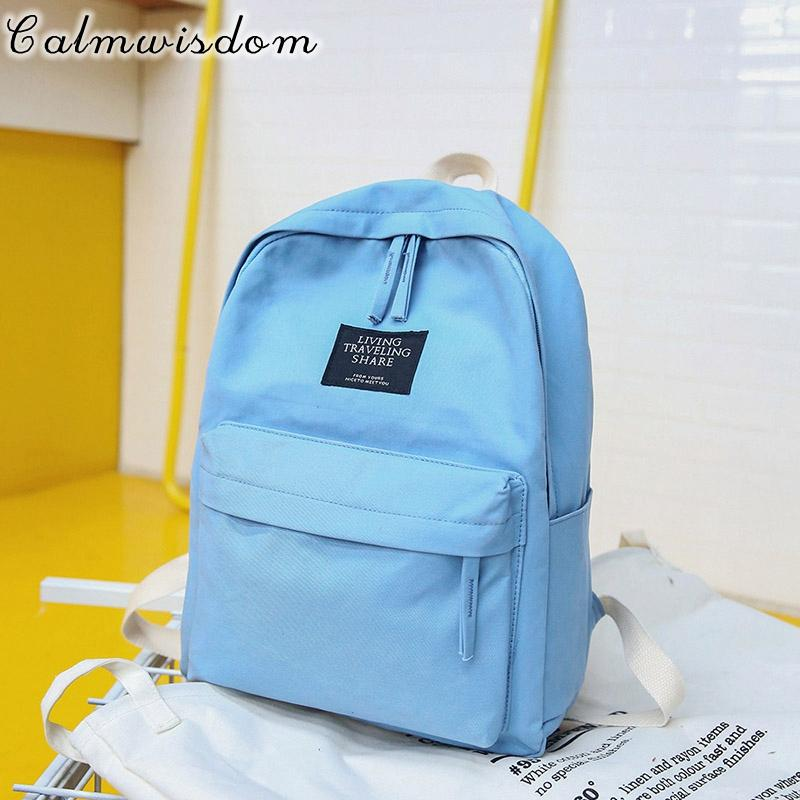 3afe1b77887e Calmwisdom Korean Style Canvas Backpack Bag Teen Student Backpack Teen Girl  Travel Vacation Shopping Large Capacity Laptop Bag Dakine Backpacks Back  Pack ...
