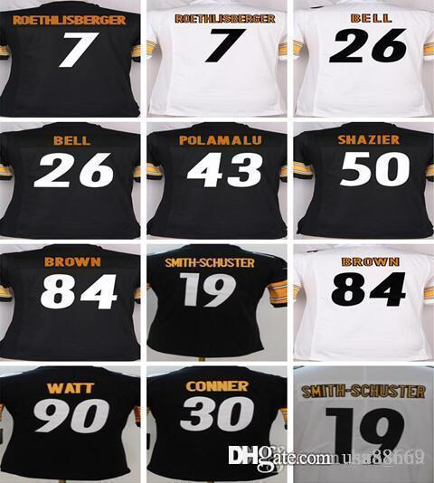 9a049381d75 ... where to buy 2018 women kids pittsburgh steelers jerseys 7 ben  roethlisberger 19 juju smith schuster