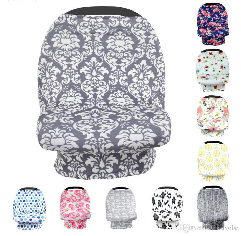 2018 5 In 1 Nursing Cover Carseat Canopy Baby Car Seat Multiuse Stretchy Scarf Breastfeeding For Boys Girls DHL From Yiwuyobe