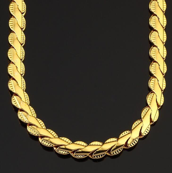 hip hop 55cm gold kette männer flut marke nachtclub partei schmuck kette männer high street rock rapper halskette versandkostenfrei