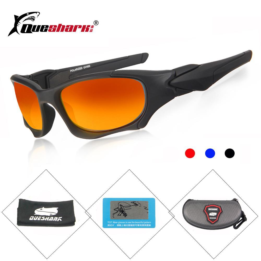 9f7d23f0962 QUESHARK Hiking Eyewear Sports Tactical Polarized Sunglasses Men HD ...