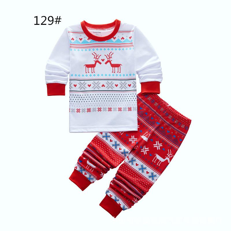0885f8d78 Baby Pajamas Christmas Striped Children Nightwear Long Sleeved ...